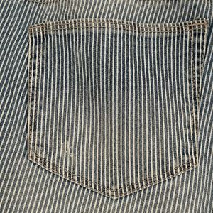 Size 12 Pinstriped Distressed Jeans - Never Worn!